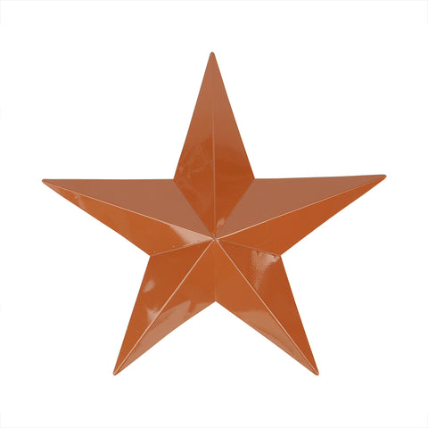 "36"" Light Brown Country Rustic Star Outdoor Patio Wall Decoration"