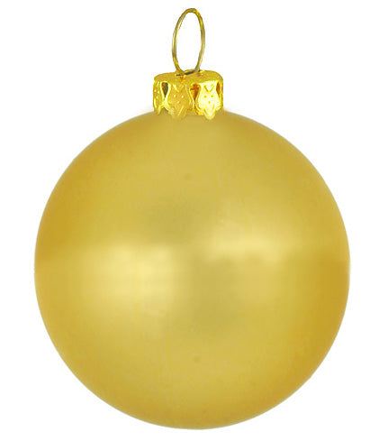 "Matte Twilight Gold Commercial Shatterproof Christmas Ball Ornament 4"" (100mm)"