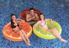 "47"" Inflatable Yellow and White Fruit Lemon Inch Inner Tube Pool Float"