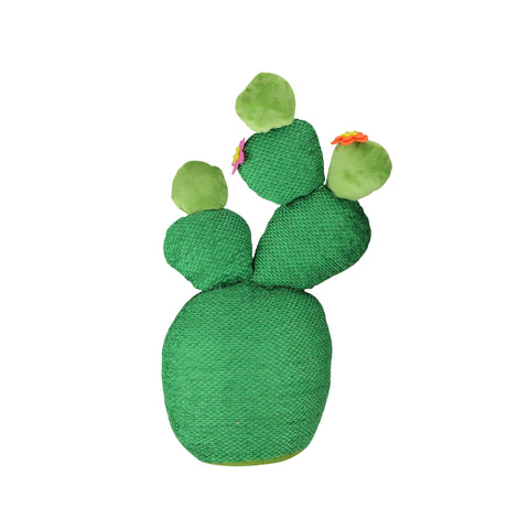 "15"" Green Artificial Plush Cactus Plant Tabletop Decor"