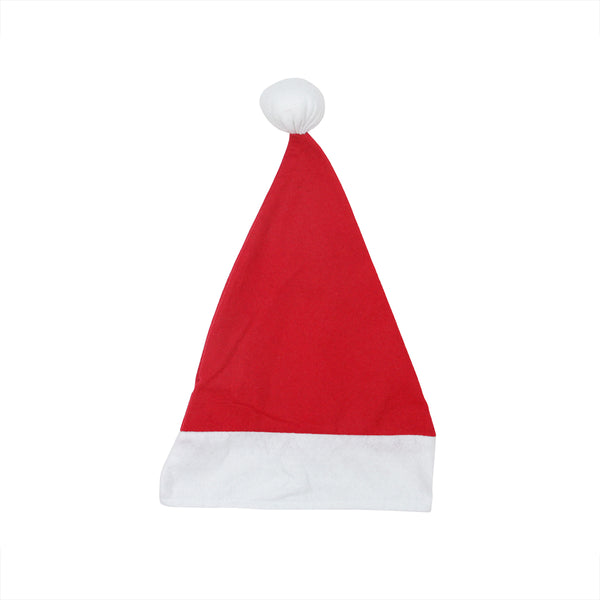 "18"" Red and White Unisex Adult Christmas Santa Hat Costume Accessory - Large"