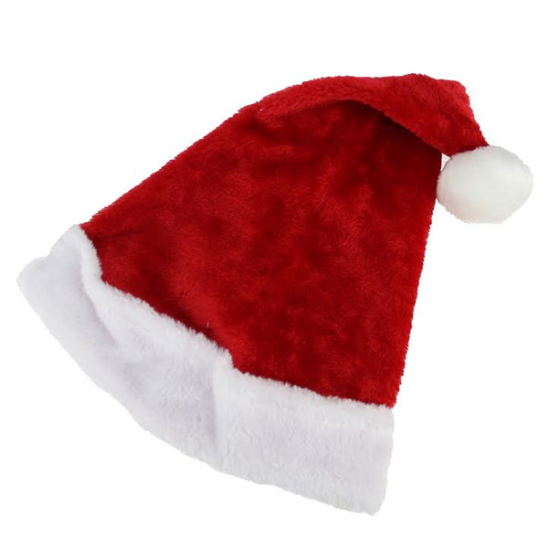 Red and White Santa Unisex Adult Christmas Hat Costume Accessory - Medium