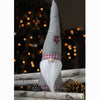 "16"" Chester the Gnome Grey and White Table Top Christmas Cone Gnome Decoration"