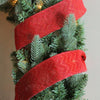 "Wine Red Glitter Chevron Burlap Wired Christmas Craft Ribbon 2.5"" x 10 Yards"