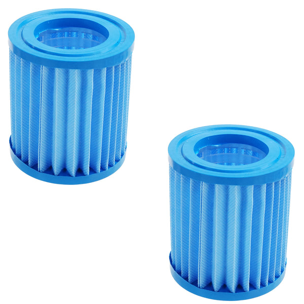 Set of 2 Blue Inorganic Antimicrobial Swimming Pool Replacement Filter Core Cartridges 7""