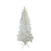 6.5' Pre-Lit Medium Flocked Pine Artificial Christmas Tree - Warm White LED Lights