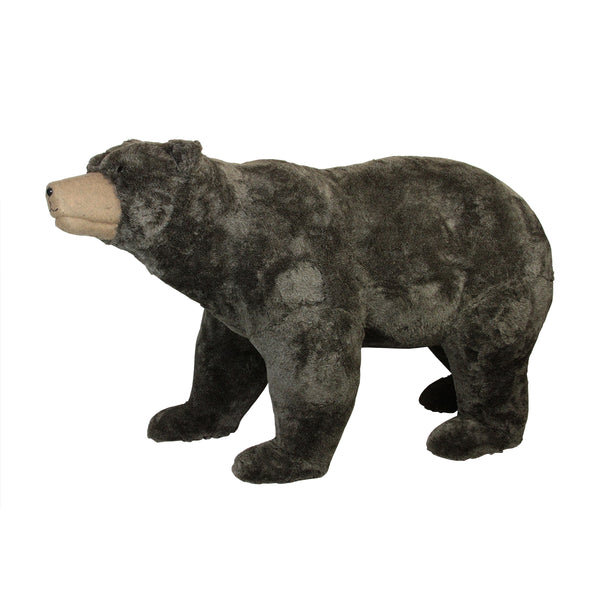 6' Commercial Life-Sized Walking Plush Brown Bear Christmas Decoration