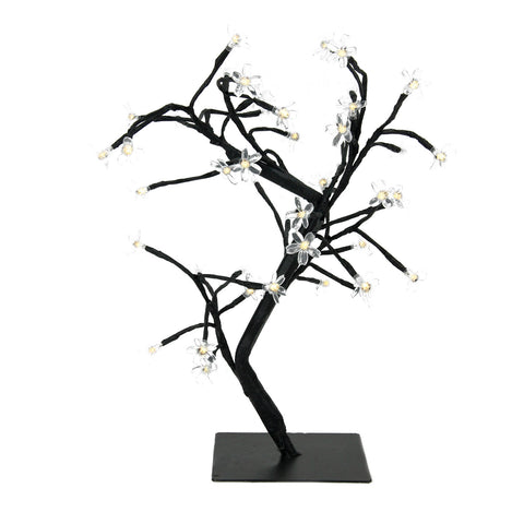 "18"" LED Lighted Japanese Sakura Blossom Flower Tree - Warm White Lights"