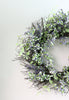 Purple, Green and White Artificial Berry Spring Wreath, 22-Inch