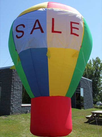 16 Foot Promotional Advertising Inflatable Hot Air Style Balloon - Rainbow Color