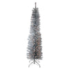 6' Pre-Lit Pencil Artificial Christmas Tree - Clear Lights
