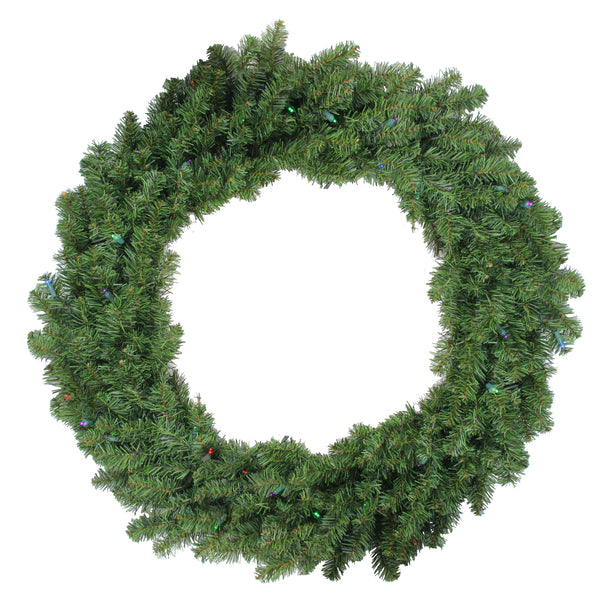 "36"" Pre-Lit Battery Operated Canadian Pine Christmas Wreath - Multi LED Lights"