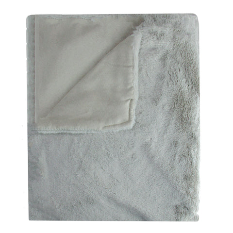 "Gray Rectangular Luxurious Throw Blanket 50"" x 60"""
