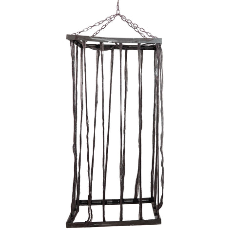 "75.5"" Distressed Brown Life Size Cage Hanging Halloween Decoration"