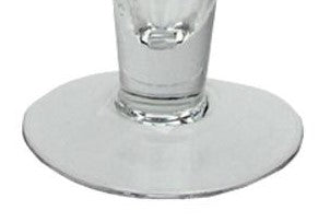 "17.5"" Transparent Swirled Glass Taper Candle Holder"