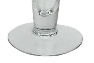 "16"" Transparent Swirled Glass Taper Candle Holder"