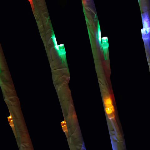 Set of 6 LED Lighted Enchanted Garden Branch Spray Driveway Pathway Markers- Multi-Color 4'
