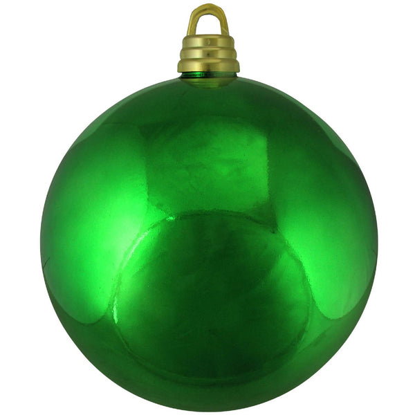 "Shiny Xmas Green Shatterproof Commercial Size Christmas Ball Ornament 12"" (300mm)"