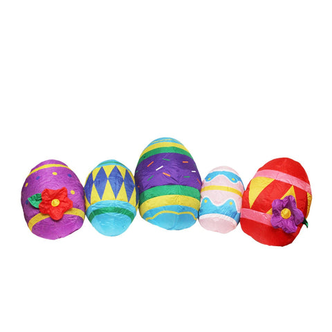 10' Inflatable Lighted Easter Eggs Outdoor Decoration