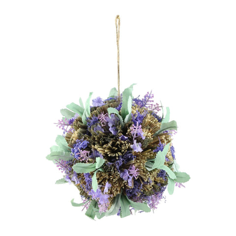 "8"" Purple Lavender with Greenery Inspired Hanging Foliage Ball"