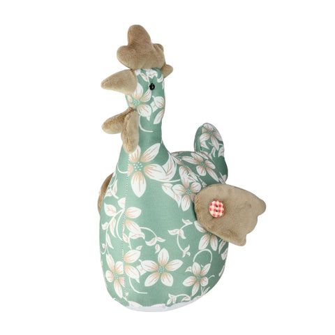 "10"" Country Green Floral Easter Rooster Chicken Spring Decoration"