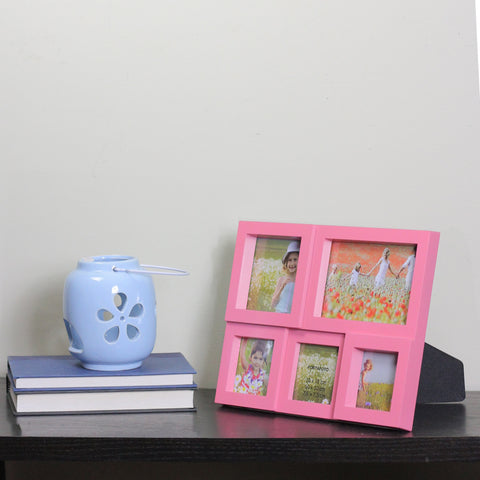 "11.75"" Pink Multi-Sized Puzzled Collage Picture Frame"