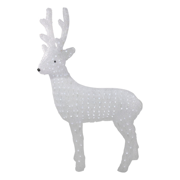 "41"" Lighted Commercial Grade Acrylic Reindeer Christmas Display Decoration"
