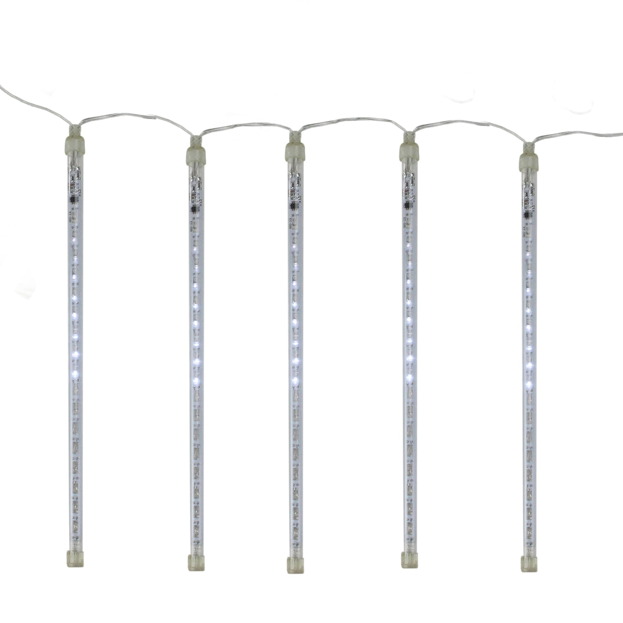 set of 10 dripping icicle snowfall christmas light tubes 9