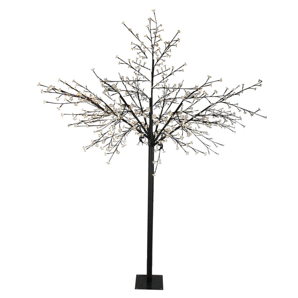 8' Multi-Function LED Lighted Cherry Blossom Flower Tree - Warm White Lights