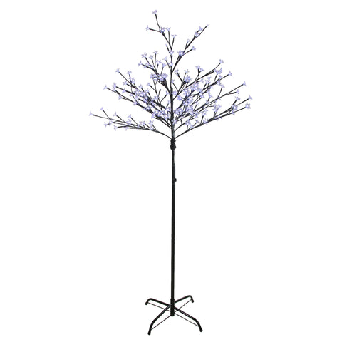 6' LED Lighted Cherry Blossom Flower Tree - Pure White Lights