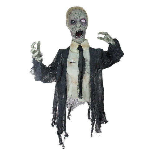 "17"" Lighted and Animated Groundbreaking Zombie Halloween Yard Decor"