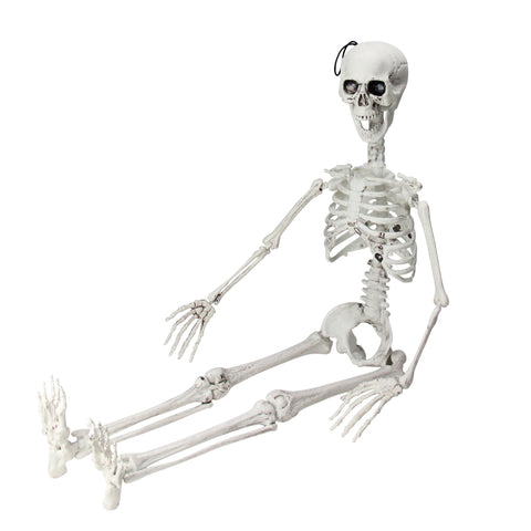 "35"" Cream White Jointed Skeleton Hanging Halloween Decoration"