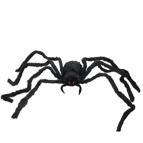 "48"" Large Black Standing Spider with LED Flashing Red Eyes Halloween Decoration"