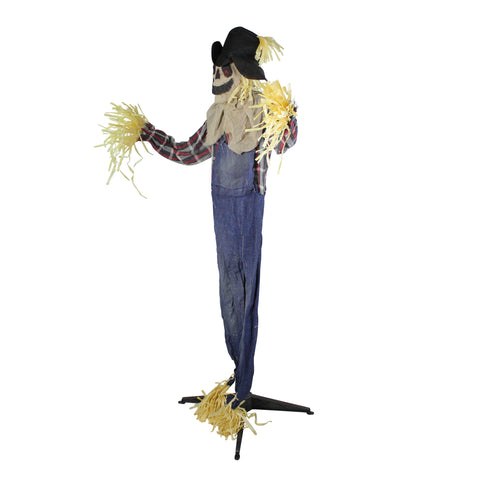 5.5' Battery Operated LED Lighted Animated Scarecrow Halloween Decor
