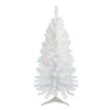 4' Pre-Lit White Pine Slim Artificial Christmas Tree - Multi Lights