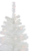 4' Pre-Lit Slim White Artificial Tinsel Christmas Tree - Clear Lights