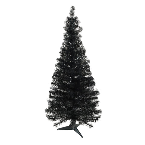"4' x 24"" Slim Black Tinsel Artificial Christmas Tree - Unlit"