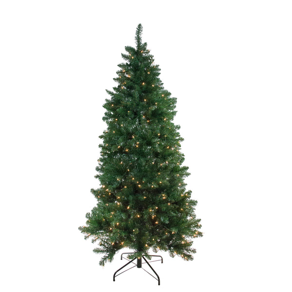 6.5' Pre-Lit Slim Eastern Pine Artificial Christmas Tree - Clear Lights