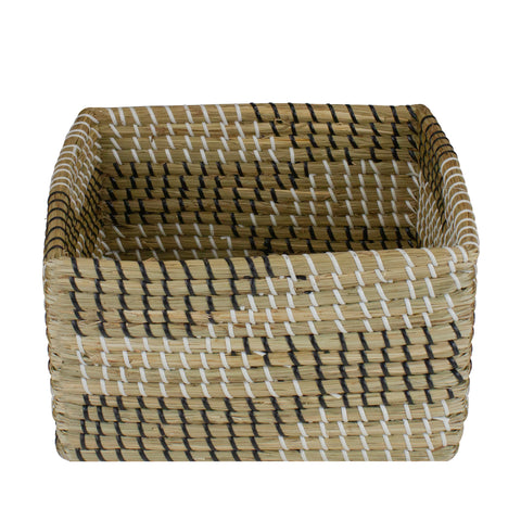 12.5'' Brown Woven Accent Christmas Seagrass Basket