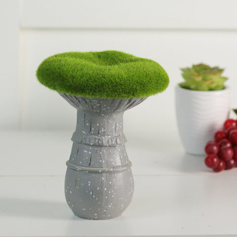 "6.5"" Artificial Moss Covered Mushroom Outdoor Garden Statue"
