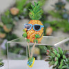"9"" Pineapple Boy Summer Garden Figure with Dangling Legs"