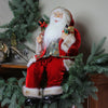 "24"" Chic Sitting Santa Claus Christmas Figure with Gift Bag and Presents"