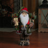 "16"" Santa Claus Christmas Figure with Knitted Snowflake Jacket"