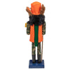 "15"" Orange and Green ""Gone Hunting"" Christmas Nutcracker in Fatigues"