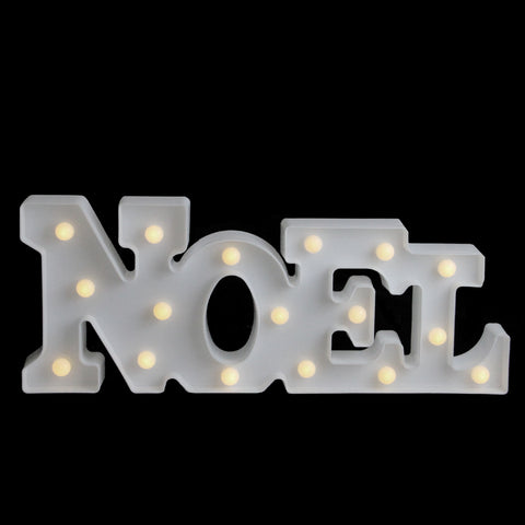 "17"" Battery Operated LED Lighted ""NOEL"" Christmas Marquee Sign"