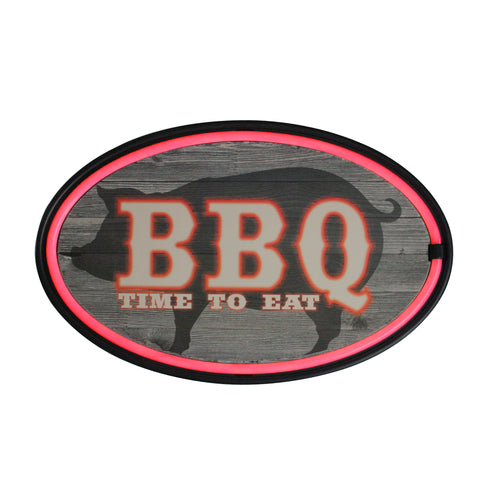 "16.25"" Battery Operated USB Neon Style LED Lighted BBQ Wall Sign"