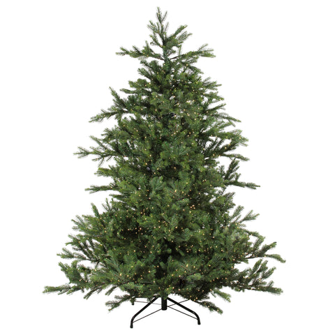 6.5' Pre-Lit Full Oregon Noble Fir Artificial Christmas Tree - Warm White LED Lights