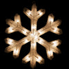 "20"" Silver Lighted Tinsel Christmas Snowflake Window Decor"