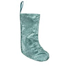 "17.5"" Aqua Blue Paillette Sequins Hanging Christmas Stocking"