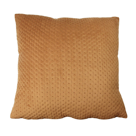 "16"" Orange Contemporary Textured Square Throw Pillow"